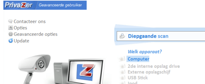Privazer screenshot
